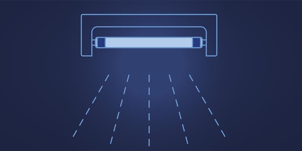 La luce tra distanziamento e sanificazione